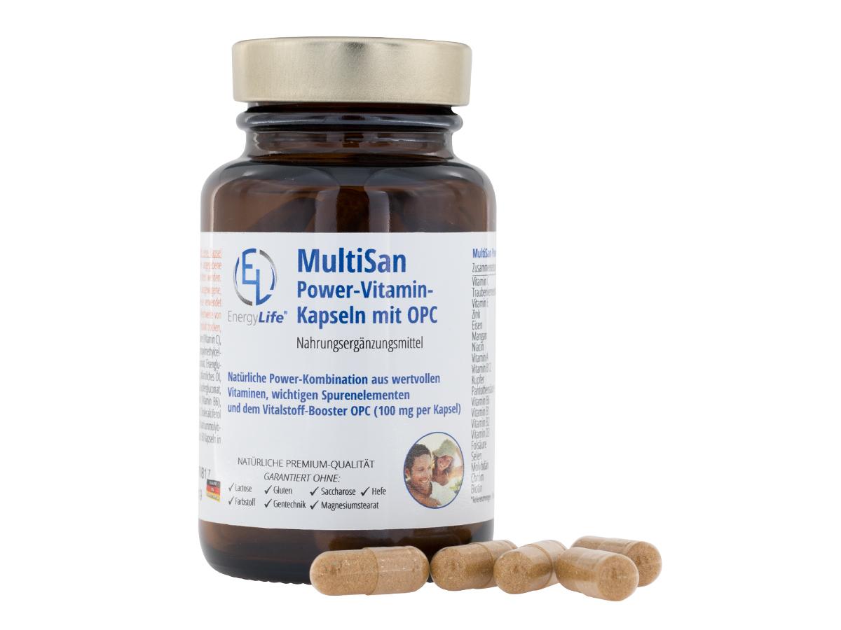 MultiSan Power-Vitamin-Kapseln mit OPC, 2-Monatspackung
